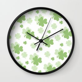 Clover Leaves Wall Clock