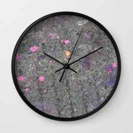 pink slash pavement Bristol graffiti Wall Clock