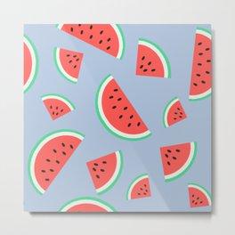 Watermelon Summer Pattern - heavenly Metal Print