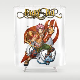 Fairy Tail Natsu and Happy Shower Curtain