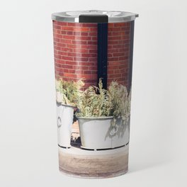 Potted Plants, Light, Shadow, from My street photography collection Travel Mug