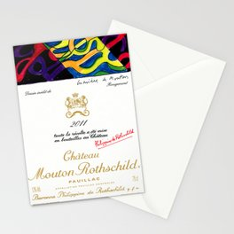 Vintage 2011 Chateau Rothschild Wine Bottle Label Print Stationery Cards