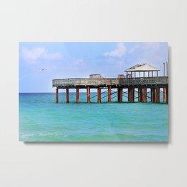 Newport Pier - Sunny Isles, Florida Metal Print