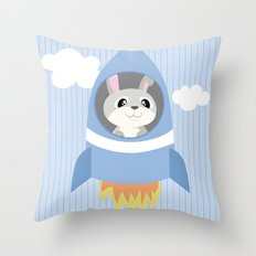 Mobil series rocket bunny Throw Pillow