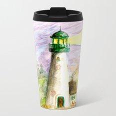 Lighthouse At Dusk Metal Travel Mug