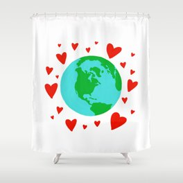 Love the Earth, Save the Earth Shower Curtain
