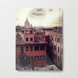 Rooftops of Roma Metal Print