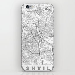 Nashville Map Line iPhone Skin