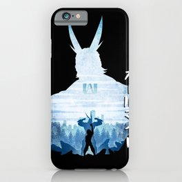 Minimalist Silhouette All Might iPhone Case