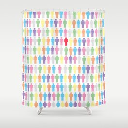 Rainbow People Shower Curtain