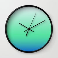 gradient Wall Clocks featuring Gradient by jajoão