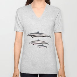 Fraser´s dolphin Unisex V-Neck