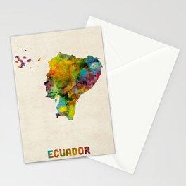 Ecuador Watercolor Map Stationery Cards