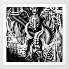 Alien flesh #1 Art Print