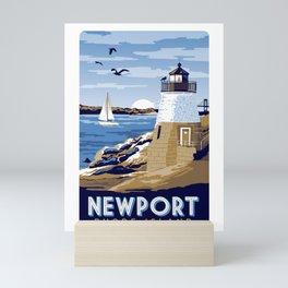Newport Rhode island vintage travel poster Mini Art Print