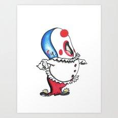 Pagliacci Whale Clown Art Print