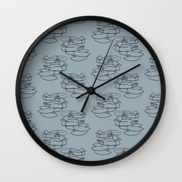 Mallards With Water Lilies Wall Clock