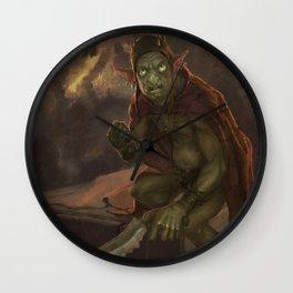Goblyn Chief Wall Clock