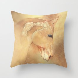 The Equine Poll Throw Pillow