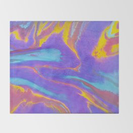 Sweetness 0017- Iridescent Fluid Painting Throw Blanket