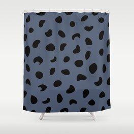 Leopard Print - Dark Blue Shower Curtain