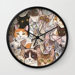 A lot of Cats Wall Clock