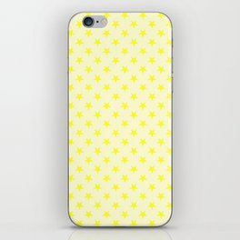 Electric Yellow on Cream Yellow Stars iPhone Skin