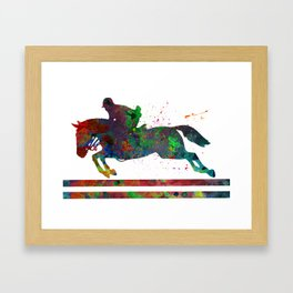 Horseback Riding Framed Art Print
