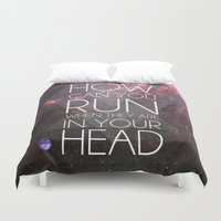 anxiety Duvet Covers featuring Anxiety by Ruveyda & Emre