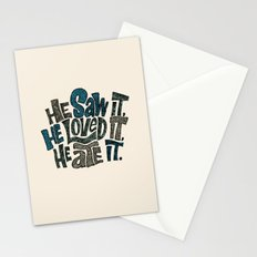 He Saw It, He Loved It, He Ate It. Stationery Cards