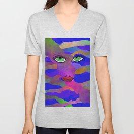 Eyes and Lips Colorful Unisex V-Neck