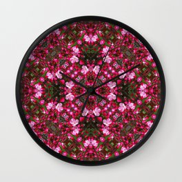 Spring blossoms kaleidoscope - Strawberry Parfait Crabapple Wall Clock