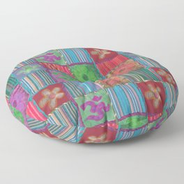 Boho Patchwork Floor Pillow