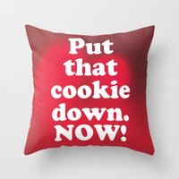 cookie Throw Pillows featuring cookie by MelleNora