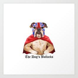 luchadog's bollocks Art Print