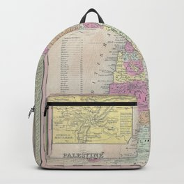 Old 1853 Historic State of Palestine Map Backpack