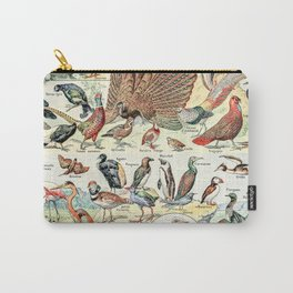 Wild Birds // Oiseaux by Adolphe Millot XL 19th Century Science Textbook Diagram Artwork Carry-All Pouch