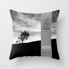 Henry David Thoreau - Solitude Throw Pillow