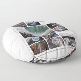 Simplistic Beauty Bubble Collage Floor Pillow