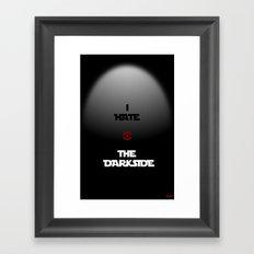 THE DARKSIDE Framed Art Print