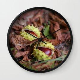 dwa kasztany Wall Clock
