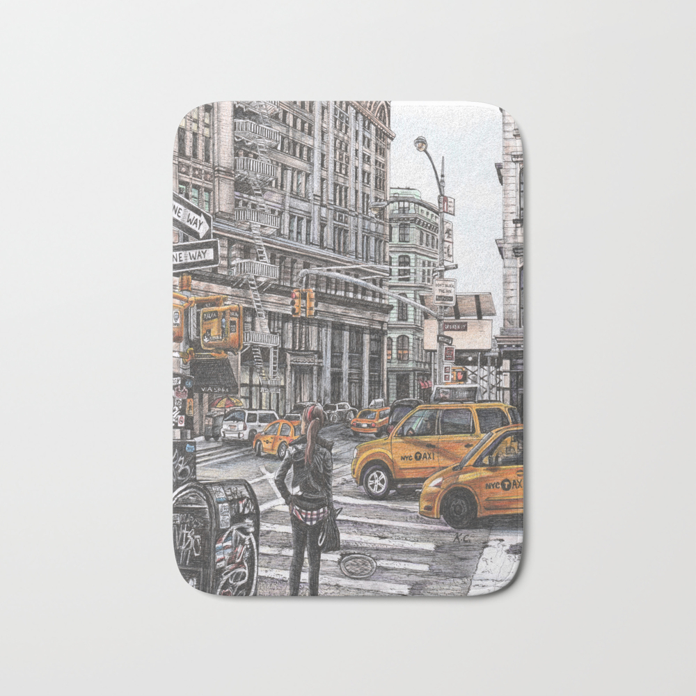 New York I Love You Bath Mat by Kimanne BMT7686026