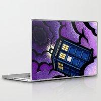 tardis Laptop & iPad Skins featuring Tardis by Jelly Soup Studios