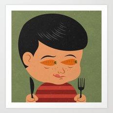 carrot eyes Art Print