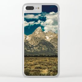 Mountain Summer Escape Clear iPhone Case