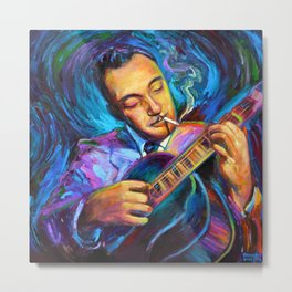 Gypsy Jazz Guitarist Django Reinhardt by Robert Phelps Metal Print