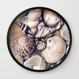 Vintage  Sea Shell Collection Coastal Style Wall Clock