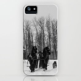 Horse Sled Ride 2 iPhone Case