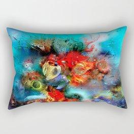 Coral Reef Red 444 Rectangular Pillow