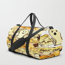 Scared ghost, confused owls and flying pumpkins Duffle Bag